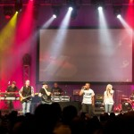 Central in Las Vegas - performing with band