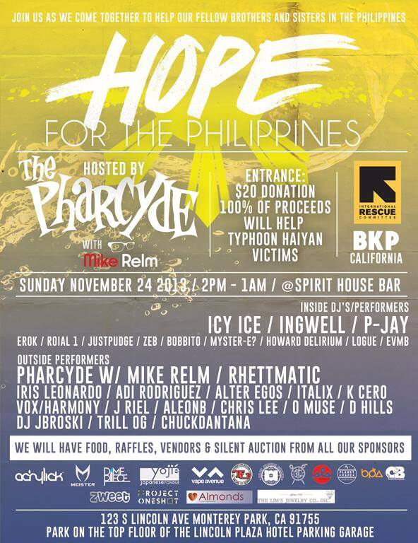 Hope For The Philippines hosted by the Pharcyde | DJ Icy Ice